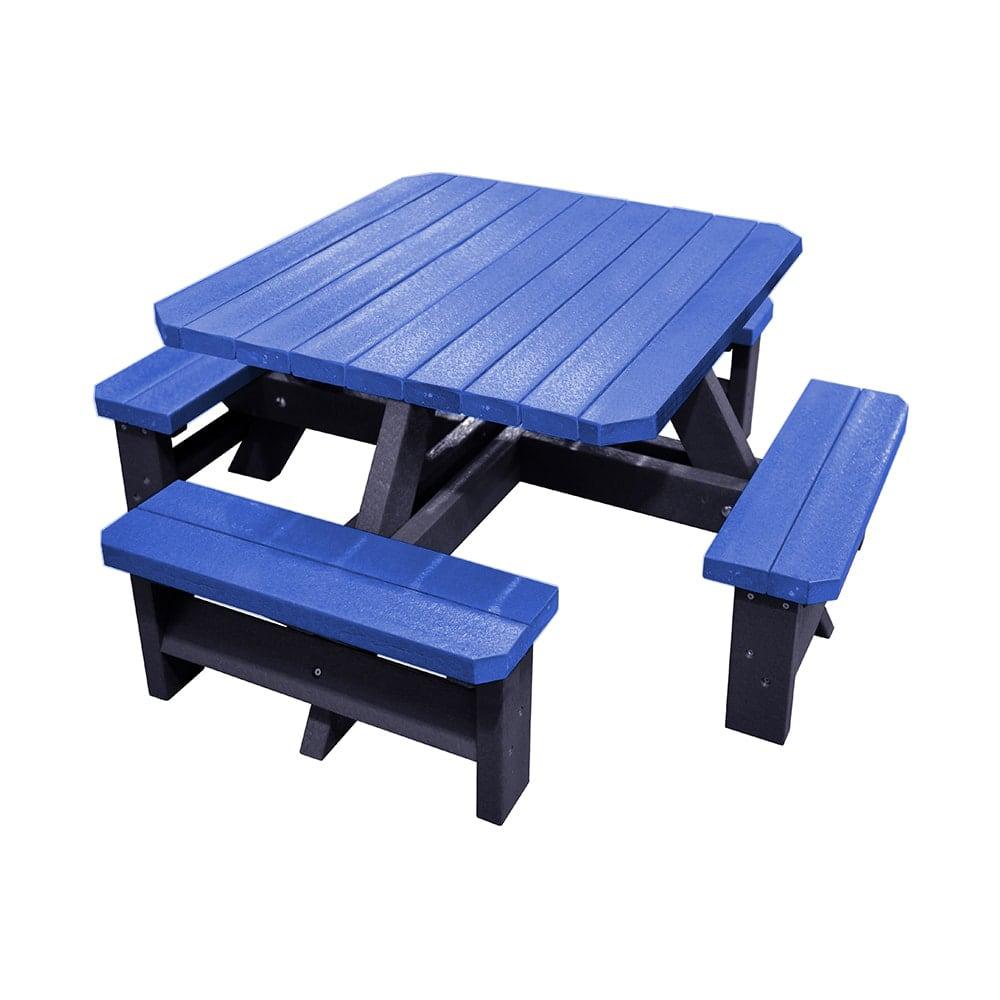 Epworth Junior Blue Picnic Bench no parasol