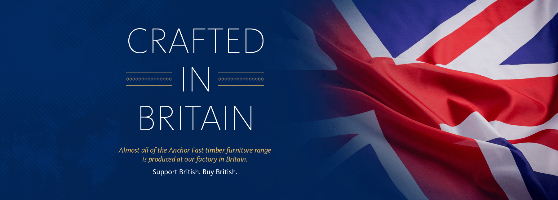 anchor fast crafted in britain banner