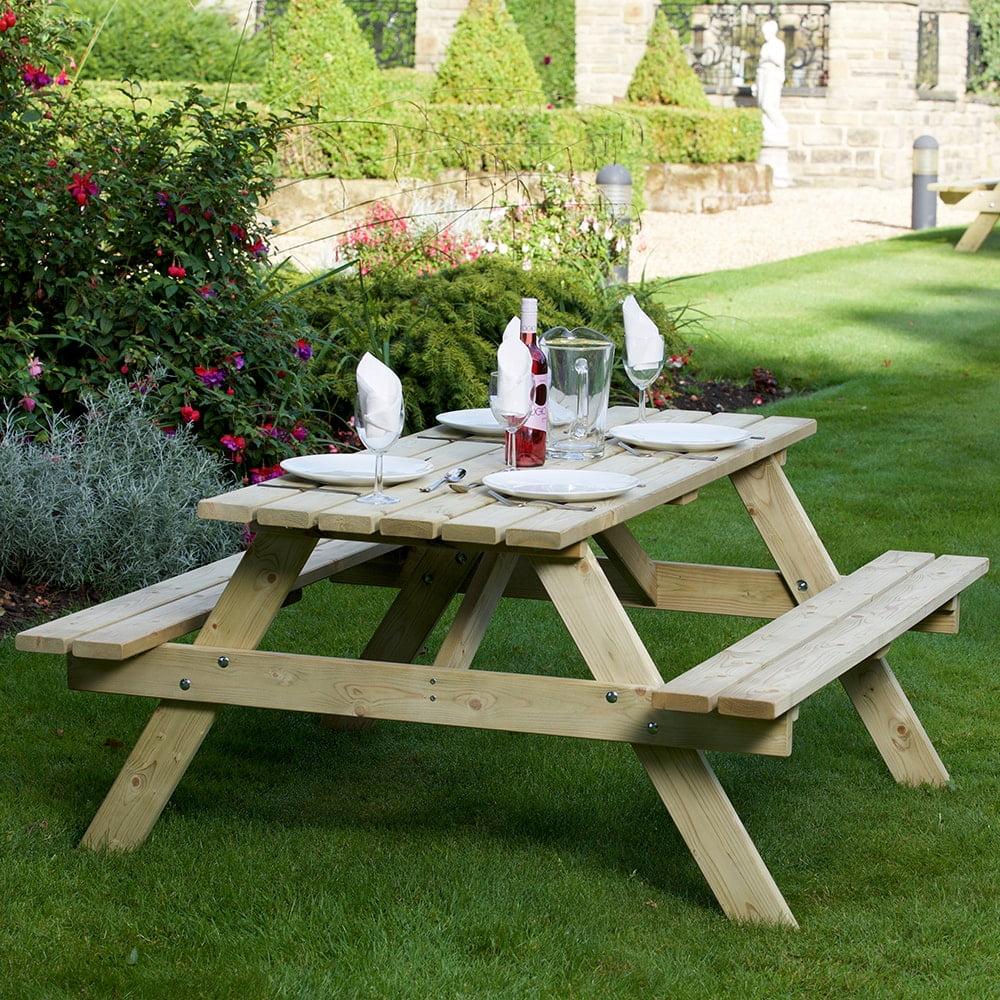 devon 1.5 metre picnic bench