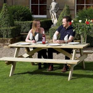 devon 1.8 metre garden picnic bench
