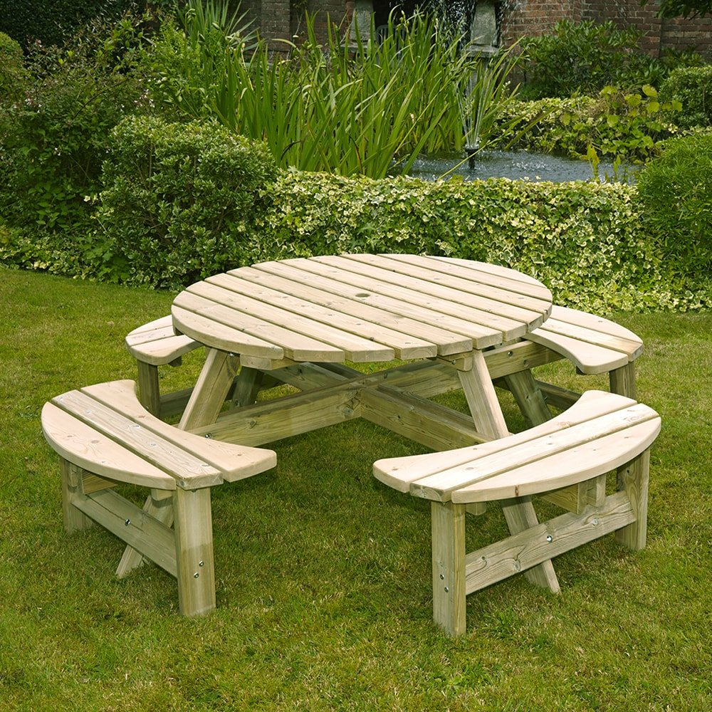 Devon Round Picnic Bench Anchor Fast - Picnic table anchors