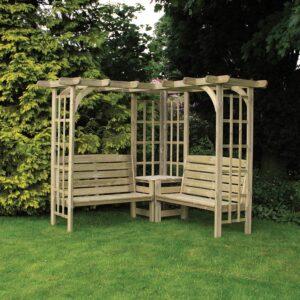 devon large corner garden arbour