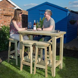 devon high table and stool set