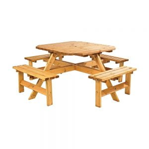 octagonal 8 seater picnic bench