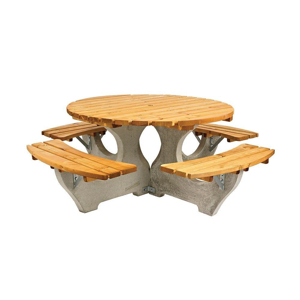 Round Picnic Table Free Delivery Anchor Fast Products - Picnic table anchors