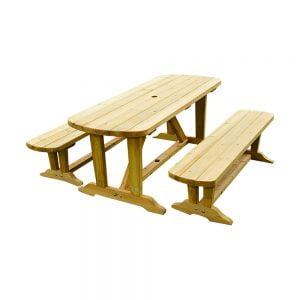 dining table and 2 bench set