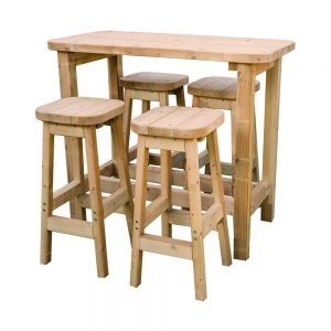 high table and 4 stool set