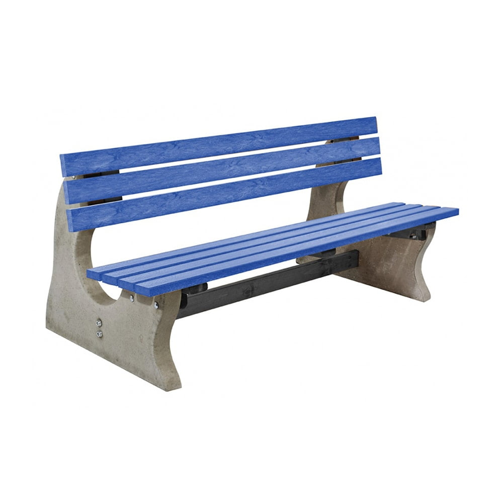 Park Bench Recycled Plastic Blue