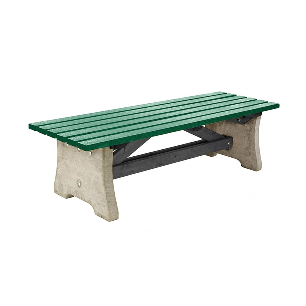 green recycled plastic pennine bench