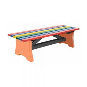 multicoloured pennine bench with terracotta base