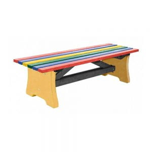 multicoloured pennine bench with yellow base