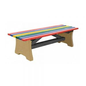 multicoloured pennine bench with beige base