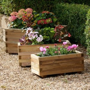 3 hexham rectangular planters