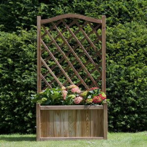 melrose planter with trellis