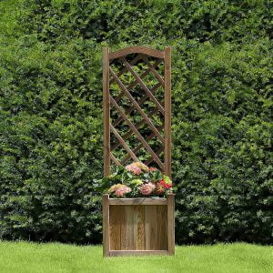 kelso planter with trellis