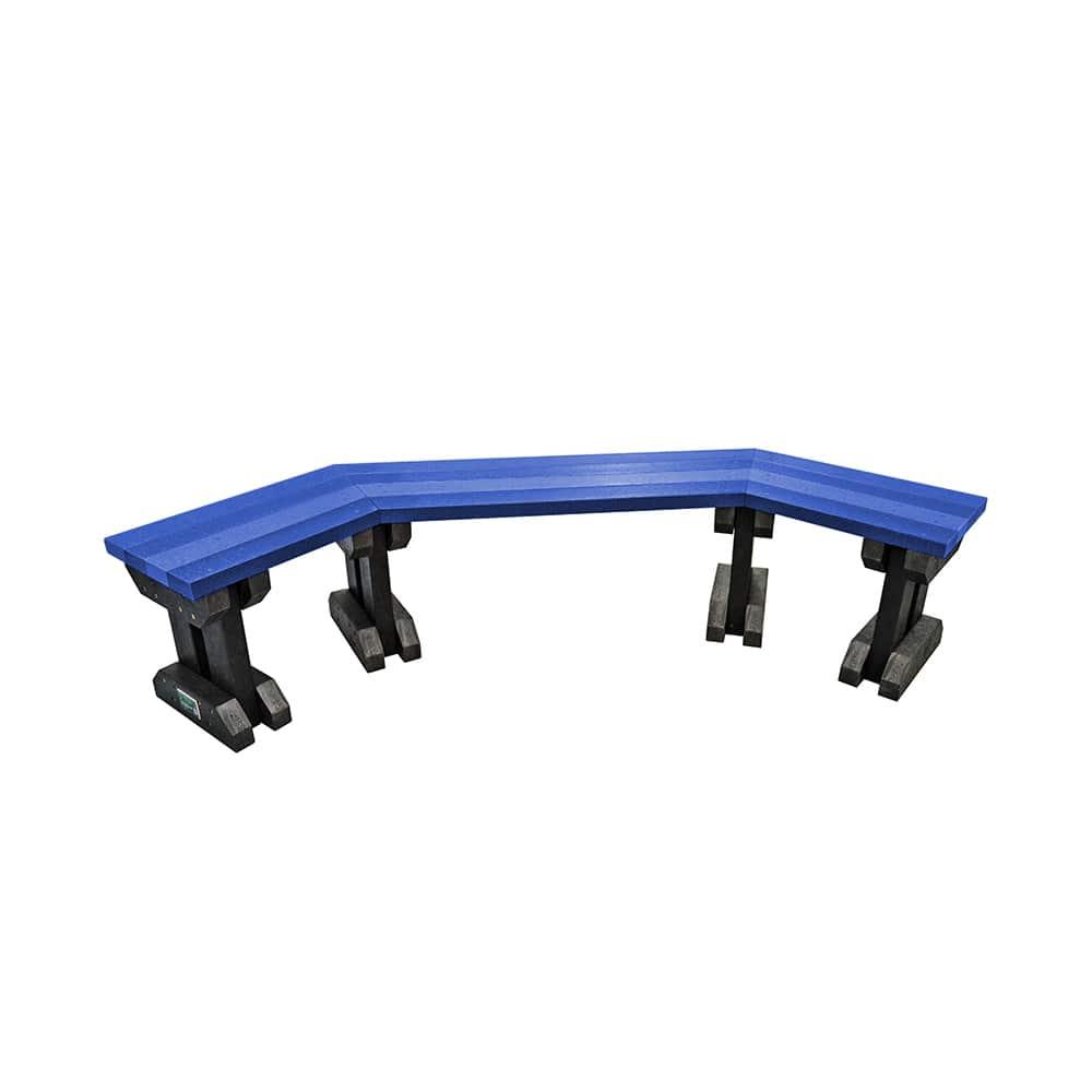 blue clifton bench