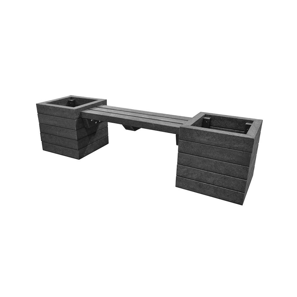 black hickleton planter with seat