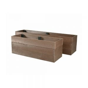 brown 1.2 metre balby planter
