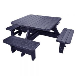 Adwick Picnic Bench Black Picnic Bench no parasol