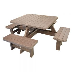 Adwick Picnic Bench Brown Picnic Bench no parasol