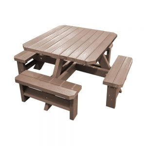 Epworth Junior Brown Picnic Bench no parasol
