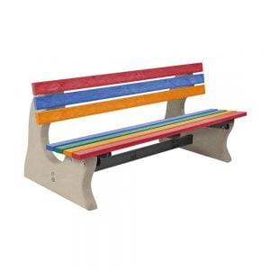 Park Bench Recycled Plastic Multi