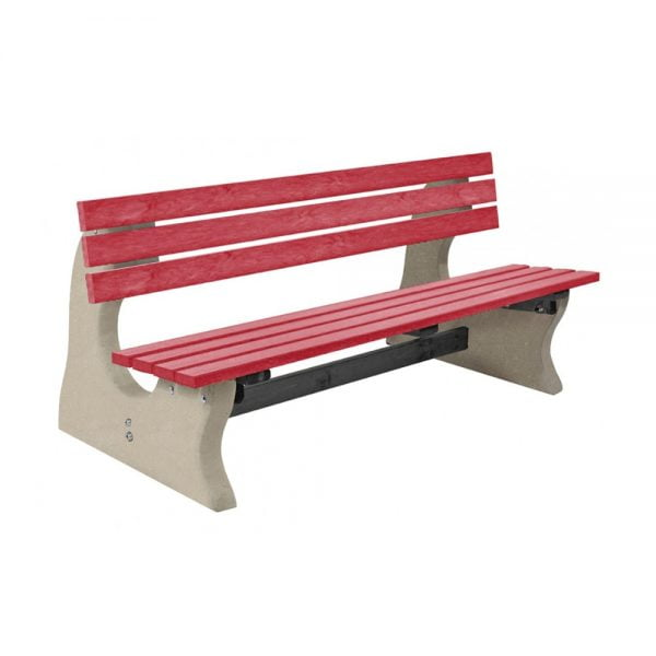 park-bench-red-top-plain-base-2