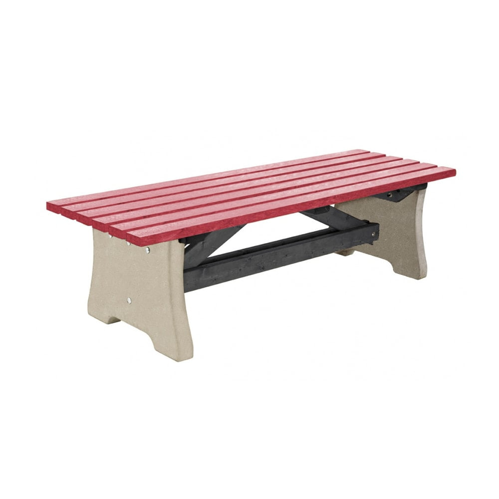 Pennine Bench Recycled Plastic Red