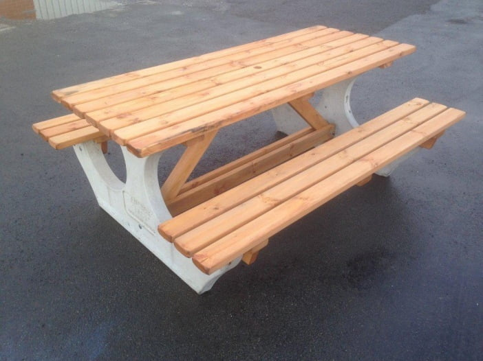 anchor fast bench after power wash