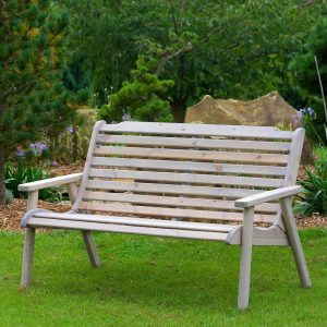 padstow 3 seater bench garden